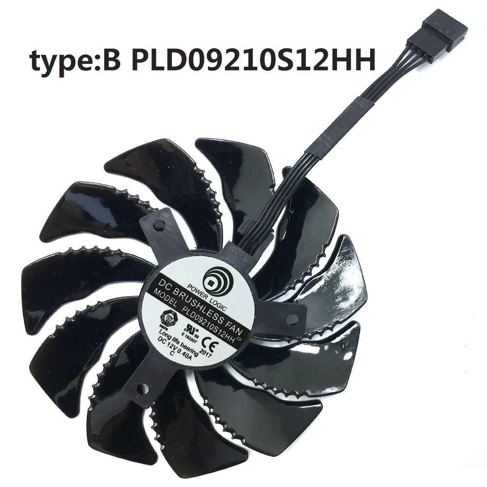جديد 85 مللي متر PLD09210S12HH فيديو بطاقة مروحة ل جيجابايت GTX 1050 1060 1070 960 RX 470 480 570 580 بطاقة جرافيكس برودة مروحة