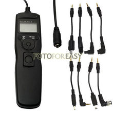 Timer Remote Shutter Cord for Canon Nikon Sony Olympus with 7pcs Removable Cable