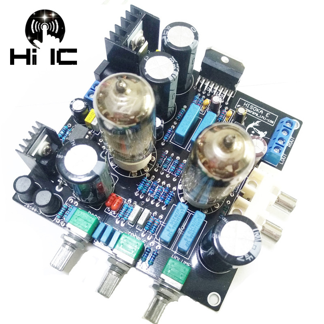 6N3 כונן TDA7379 ואקום צינור מגבר סטריאו HiFi Amp Amplifie מראש מגבר 38W + 38W DC 12V