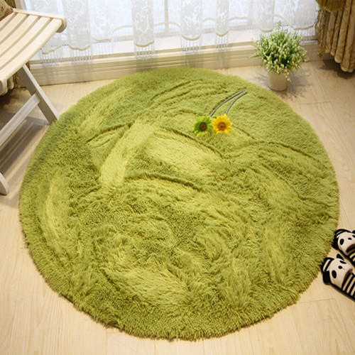 Hot Sales High Quality Floor Mats Modern Shaggy Round Rugs And Carpets For  Bedroom Carpet Rug For Home Yoga Mat DIA80cm