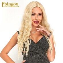 Ebingoo Futura Fiber 613 Platinume Blonde Смешанная Свободная Волна Синтетический Парик Фронта