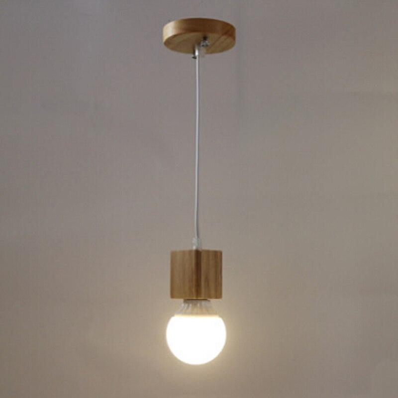 US $19.0 |[HQXING] Vintage anhänger licht Holz Retro lampe farbe draht  E27/E26 buchse holz fassung Hängen leuchte. keine glühbirnen-in  Pendelleuchten ...