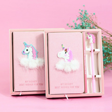Cute Teenage Heart Bullet Journal Pink Girl Unicorn Notebook Blank Paper Notepad Gift Box Planners Stationery School Supplies