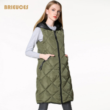2016 free shipping winter vest women Quilting plus size Spliced PU down cotton hooded vintage waistcoat female outwear 3XL