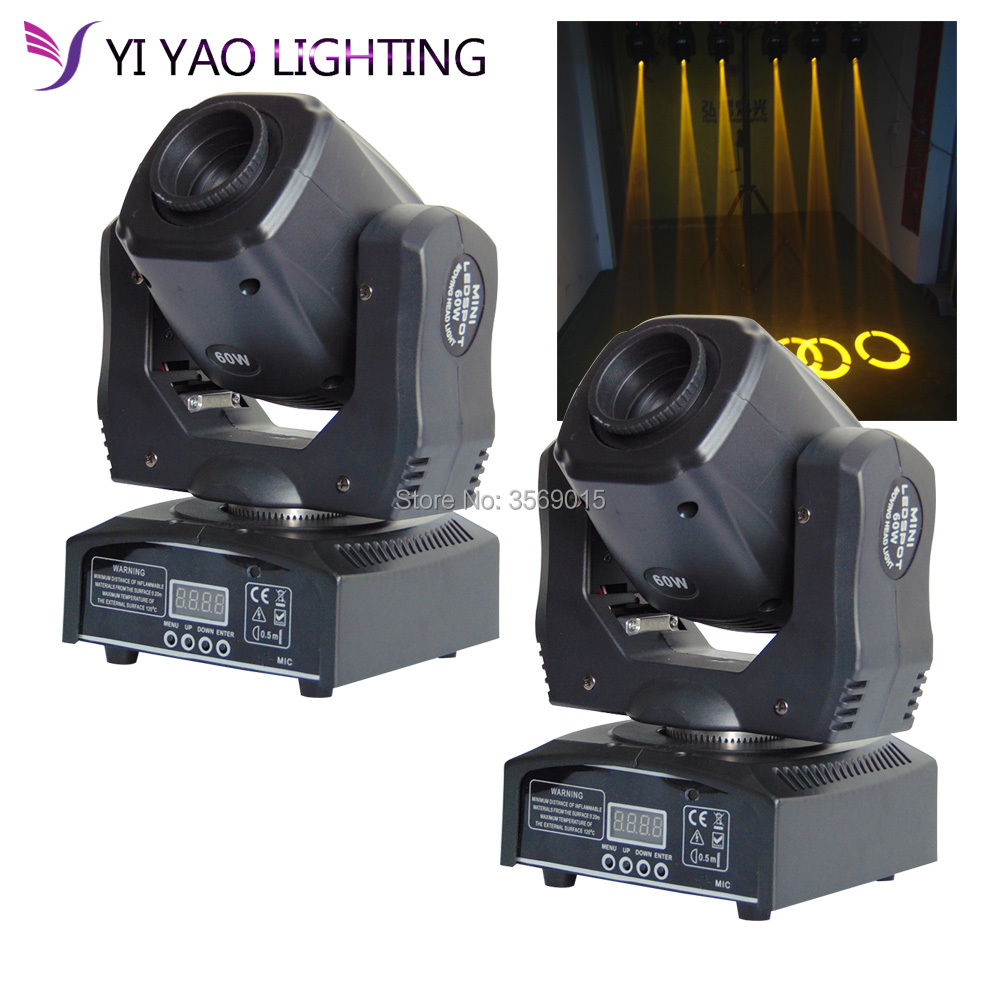 2pcs/lot LED Inno Pocket Spot Moving Head 60w gobo Light DMX dj stage lights цена