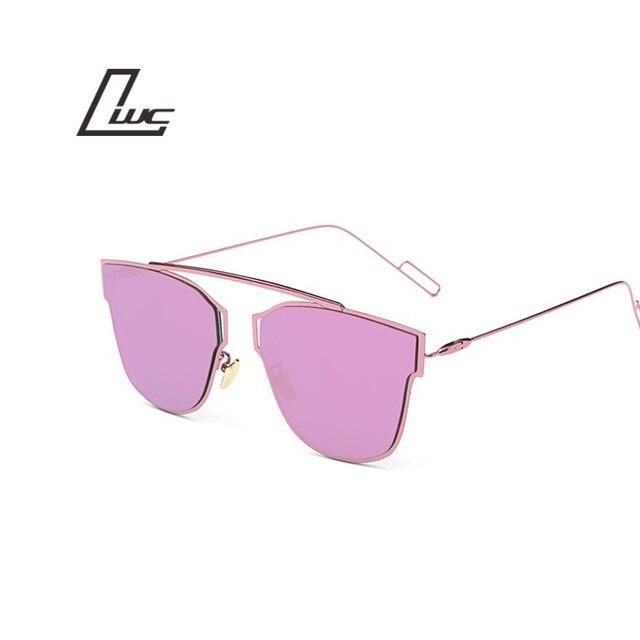 2017 Summer Style Reflective Metal Frame Luxury Brand Vintage Sunglasses Women Brand Designer Retro Shades Sun Glasses Oculos