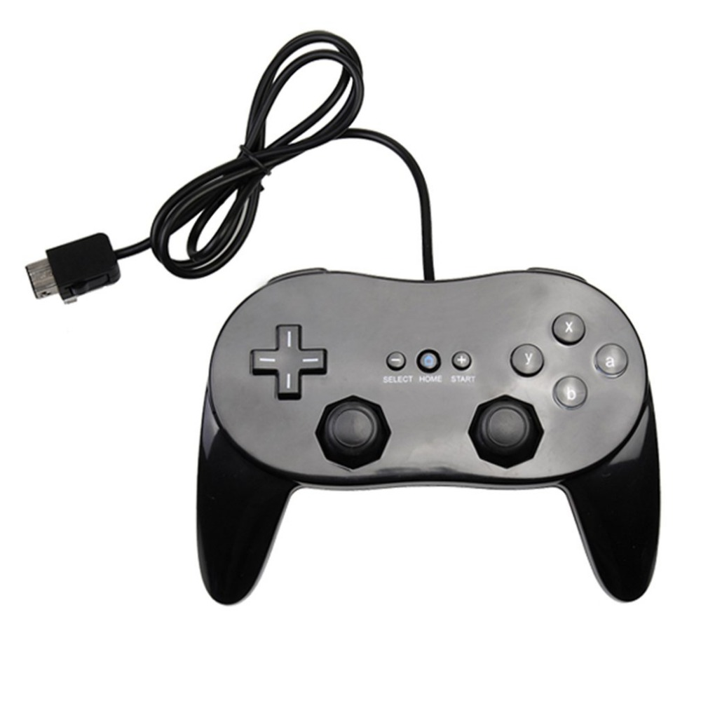 Classic Game Controller With Grip Joypad Gamepad Comfortable Game Pad Gaming JoyStick For Nintendo Wii Console drop ship