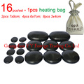 16pcs/set new type basalt stone massager body massage stone set Salon SPA with 220V heating bag CE and ROHS