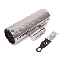 Stainless Steel Guiro with Scraper Percussion Musical Instrument Training Tool #35/11W