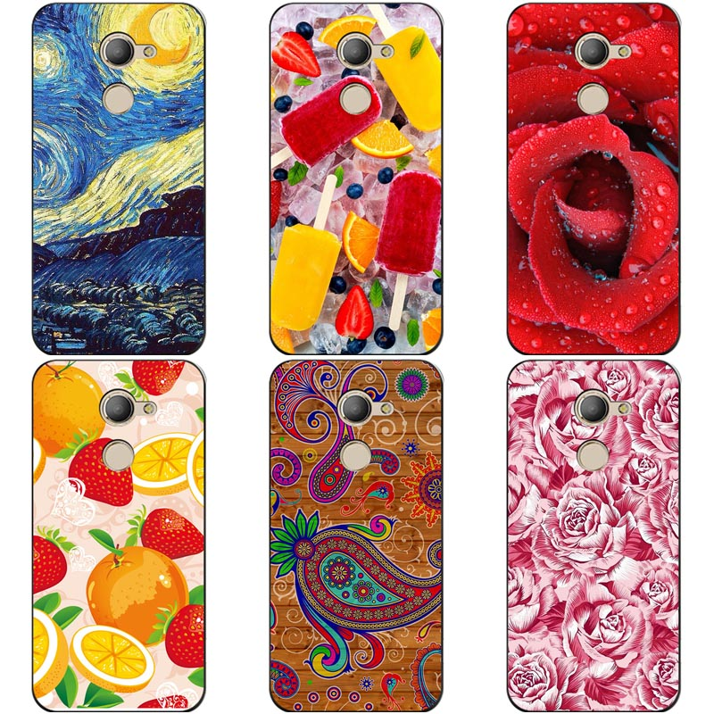 Luxury Printing Case For Vodafone Smart N8 VFD610 VFD-610 Art Printed Flower Cell Phone Cover Rose Funda Cute Animal Coque