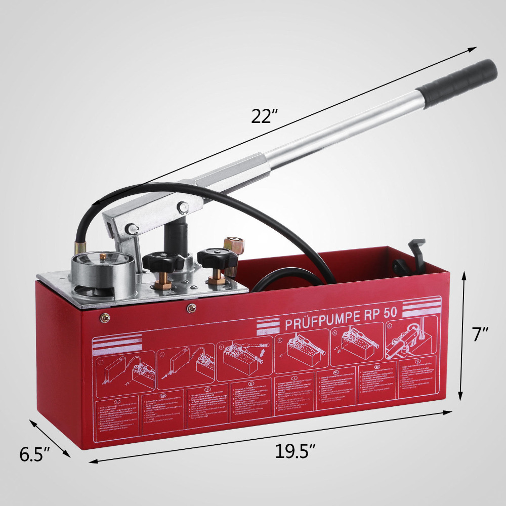 12L HYDROSTATIC Pressure Test Pump Compatible With Rothenberger RP50 Filling Solar Systems Low Temperature Resistance