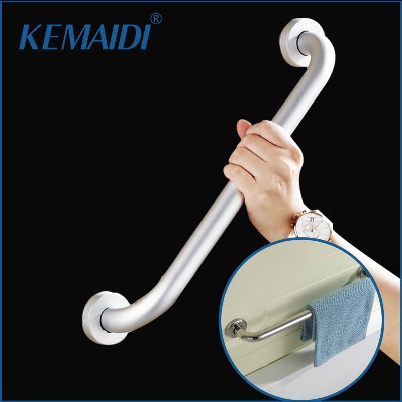 KEMAIDI Free Shipping Stainless Steel & Black Bathroom Disabled Handrail Handrest Bathroom Set Care for Elders Handle Grab Bars