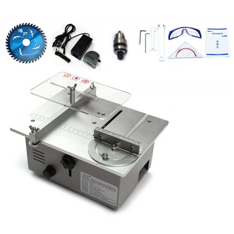 Astounding Double Motor Diy Mini Table Saw Mini Desktop Cutting Machine Bench Saw Woodworking Saw Lathe With Speed Control Y Ibusinesslaw Wood Chair Design Ideas Ibusinesslaworg