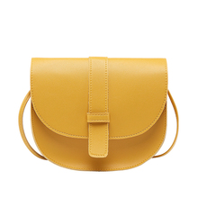 NYHED Small Women Purse Shell Messenger Bag Fashion Solid Yellow Black Crossbody