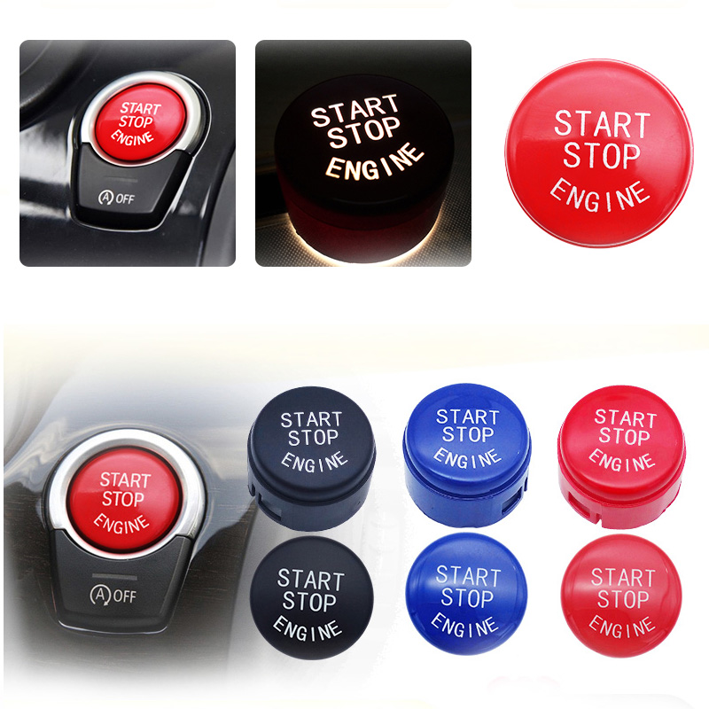 Car Engine Start Switch Button Replace Cover For BMW 1