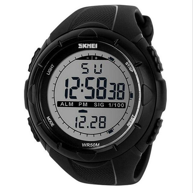 SKMEI Марка 1025 СВЕТОДИОДНЫЙ Цифровой Мужские Военные Часы Мужчин Спортивные Часы 5ATM Плавать Восхождение Мода Открытый Случайные Люди Наручные Часы
