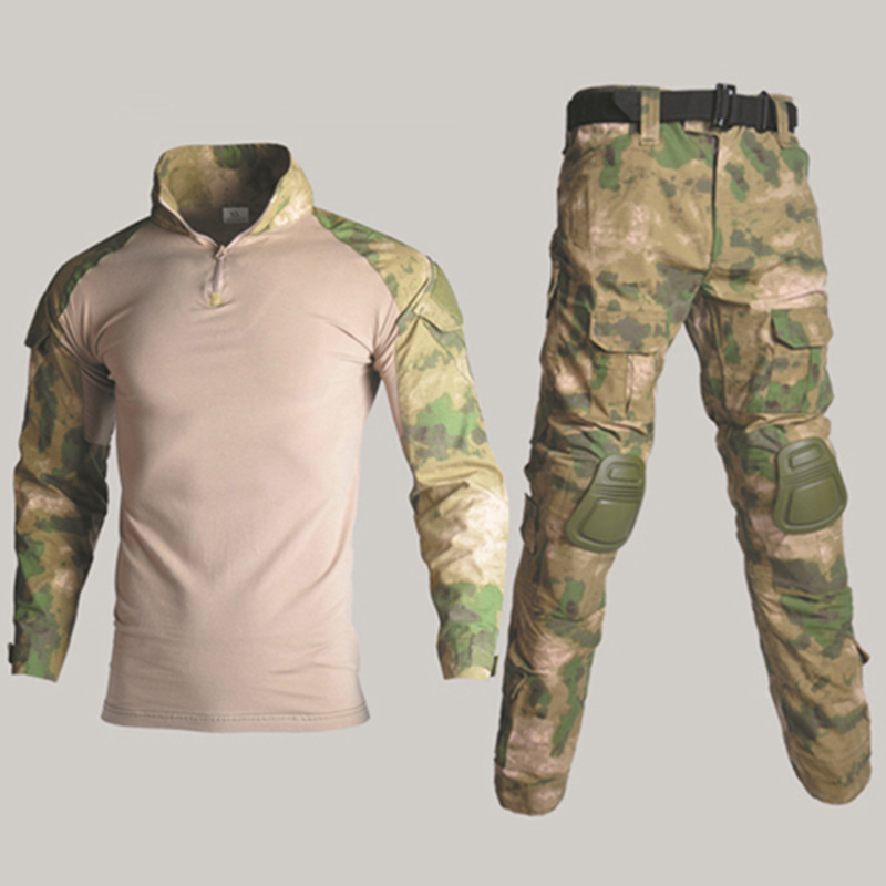 Image 4 - BDU Tactical Camouflage Military Uniform Clothes Suit Men US Army clothes Airsoft Military Combat Shirt + Cargo Pants Knee Pads-in Military from Novelty & Special Use