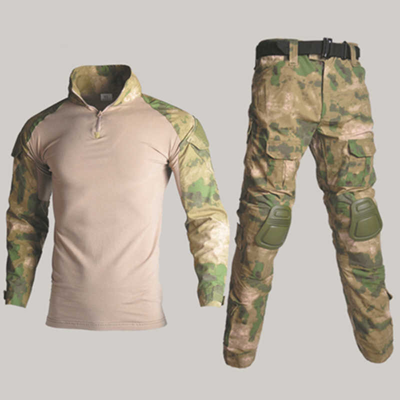 12732918eb502 ... BDU Tactical Camouflage Military Uniform Clothes Suit Men US Army  clothes Airsoft Military Combat Shirt + ...