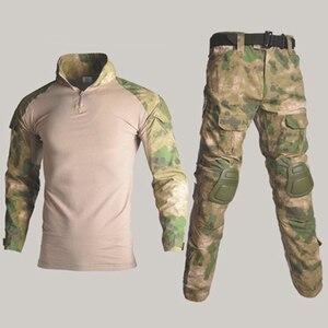 Image 4 - BDUยุทธวิธียุทธวิธีทหารผู้ชายUS Armyเสื้อผ้าAirsoftทหารเสื้อ + กางเกงเข่าPads