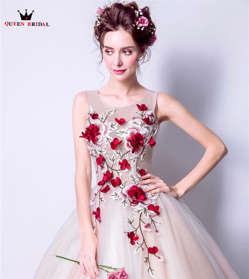 Королевские Свадебные вечерние платья, Пышное Бальное Платье, 3D Цветы, тюль, длинное женское вечернее платье, платья, новинка 2020, vestido de festa LS81 - 6