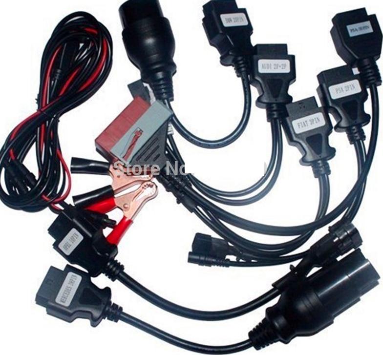 Prix pour Promotion prix! câbles Pour CDP Pro Voitures OBDII Diagnostic Interface Outil Pour delphi ensemble Complet 8 pcs Voiture Câbles