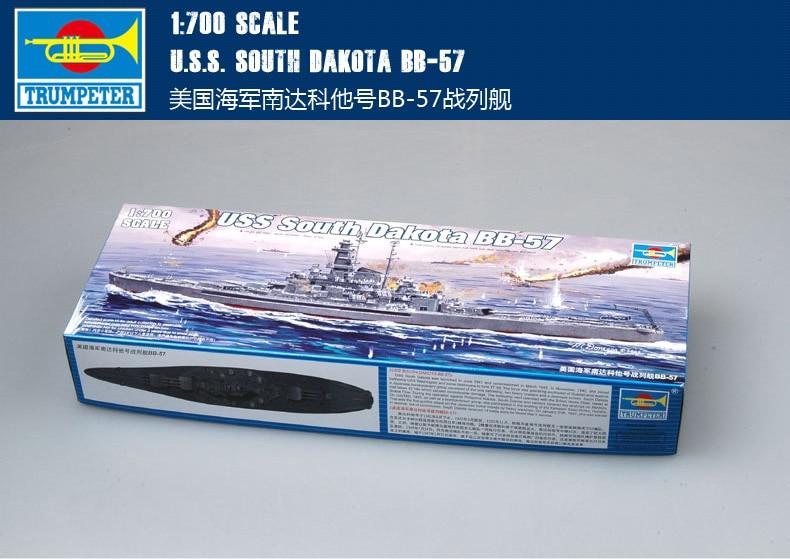 Trumpet 05760 1:700 us BB-57 South Dakota battleship  Assembly modelTrumpet 05760 1:700 us BB-57 South Dakota battleship  Assembly model