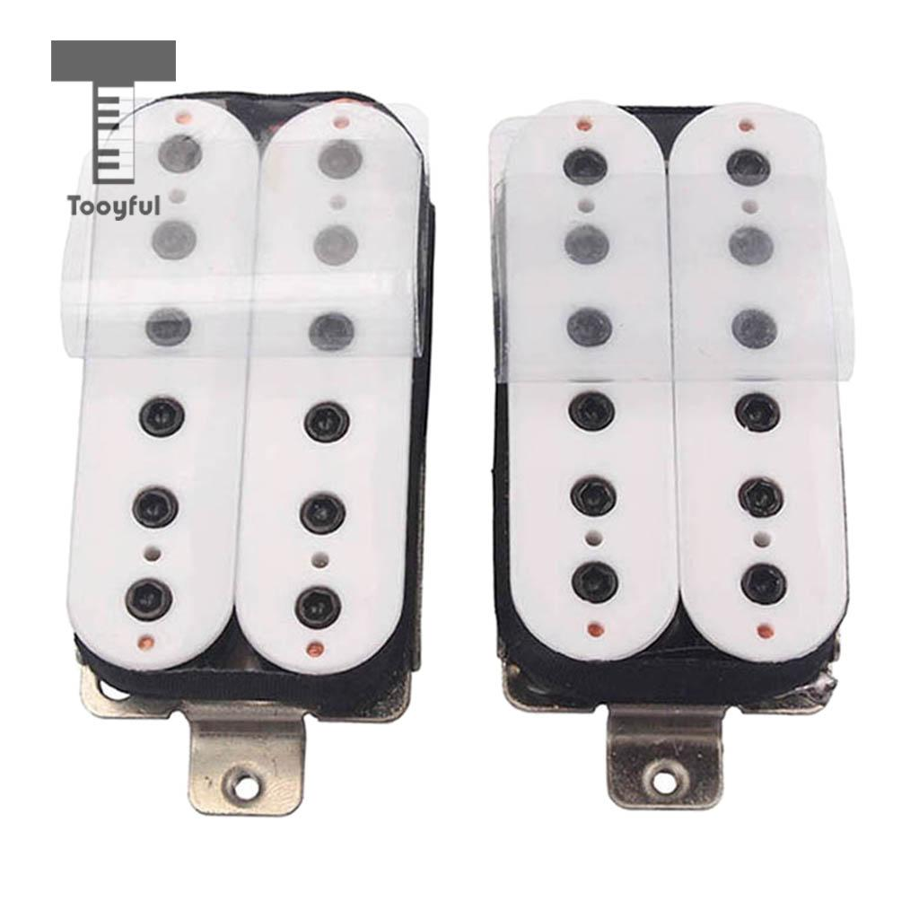 Tooyful Double Coil Humbucker 6 String Electric Guitar Pickups Neck Bridge Pickup free shipping new electric guitar double coil pickup chb 5 can cut single art 46