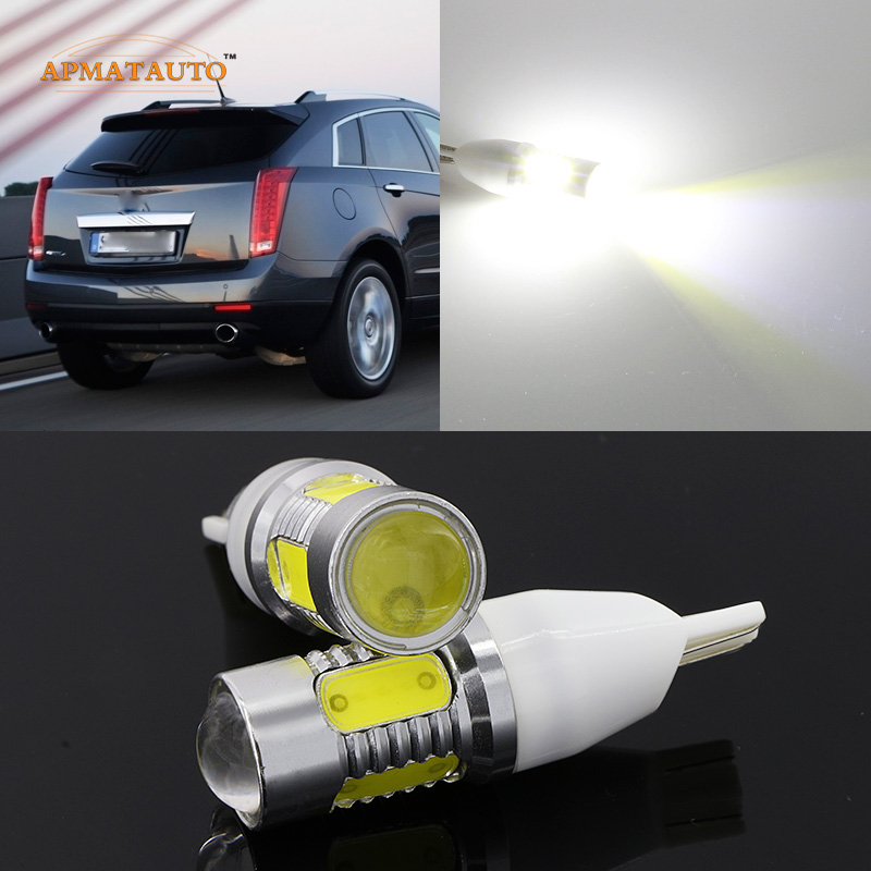 2 x T15 W16W 912 921 White High Power Plasma LED Projector Blub Tail Backup Reverse Rear Lights For Cadillac SRX XTS