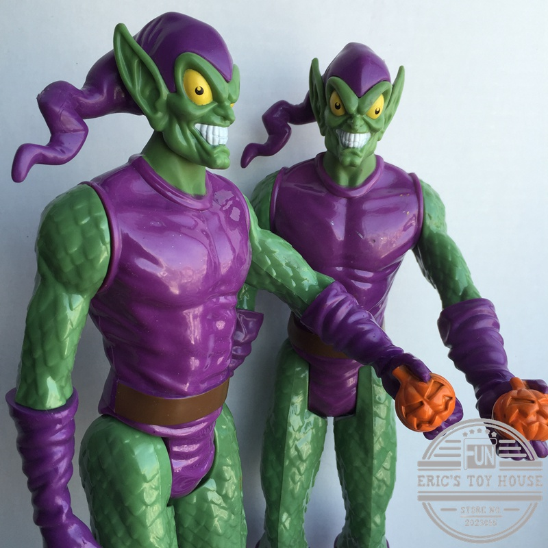 Action Figure Hasbro Spider-Man Green Goblin 30cm Jointed Doll Loose Toy PVC Decorative Figure Model Collectible Toy for Gift spiderman creator x creator the amazing spider man pvc figure collectible model toy