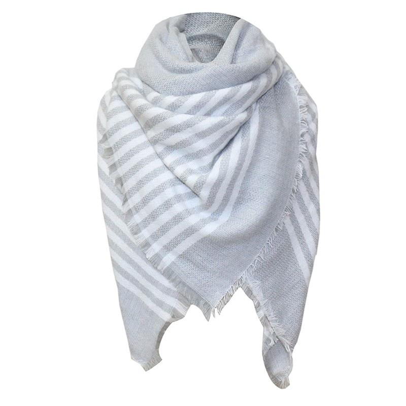 NEW Quality Shawls Women Winter   Scarf     Scarves   Plaid   Scarves     Wraps   Female Plaid   Scarf   Unisex Basic Poncho Stole Bandana #10