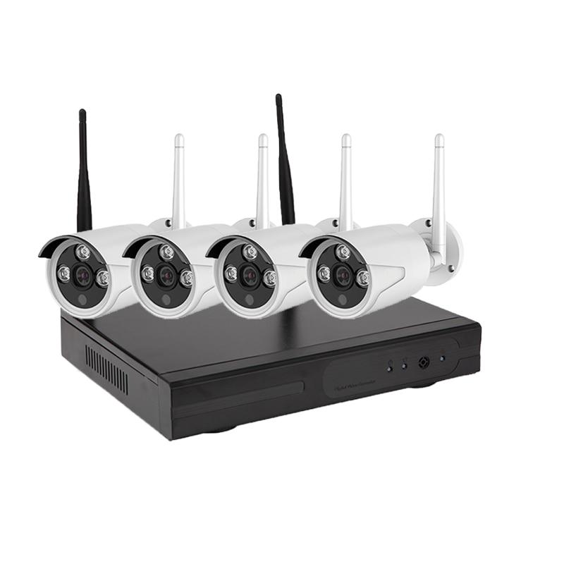 цены  New wifi 720P Night Vision Wireless IP Camera Kit Set Security CCTV System Video Surveillance Kits P2P Wifi NVR Kit