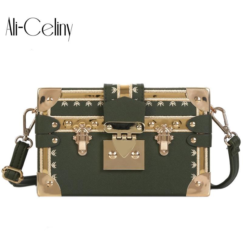 Famous brand rivet box handbags mini Cube Brand original design crossbody bags for women messenger bags