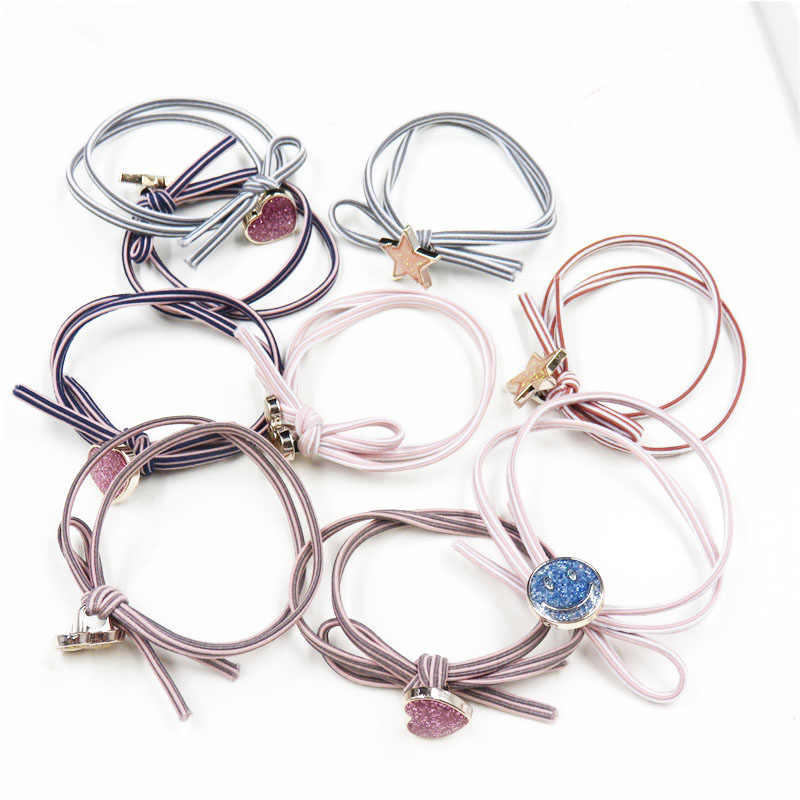 1PCS Simple Knot LOVE Star Elastic Hair Bands For Girls Bohemian Headband Scrunchy Fashion Kids Hair Accessories For Women 2018