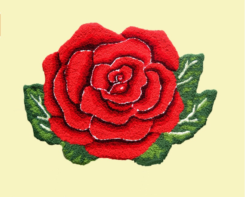 Rose Flower Shaped Rugs And Carpets