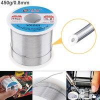 63/37 450 г 0,8 мм 0,5 мм-2,0 мм оловянный тонкий проволочный сердечник канифоль припой с 2% флюсом и низкой температурой плавления для электрическог...