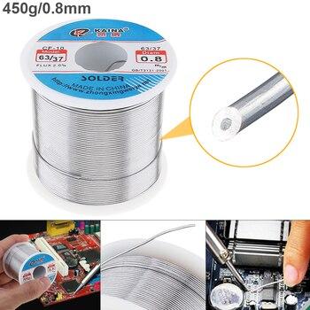 63/37 450 グラム 0.8 ミリメートル 0.5 ミリメートル〜 2.0 ミリメートル錫細線コアロジンはんだワイヤー 2% フラックスと低融点電気はんだごて