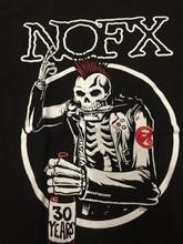 100% Cotton Print Men'S Print Crew Neck    Nofx Skull Gothic  Short-Sleeve Tee white crew neck french fries print tee