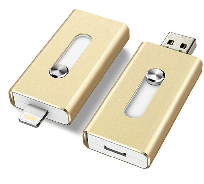 2017 latest Metal i Flash Drive U disk Pen Drive memory stick storage for Iphone 7