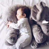 2016 Hot Sale 40cm Colorful Giant Elephant Stuffed Animal Toy Animal Shape Pillow Baby Toys Home
