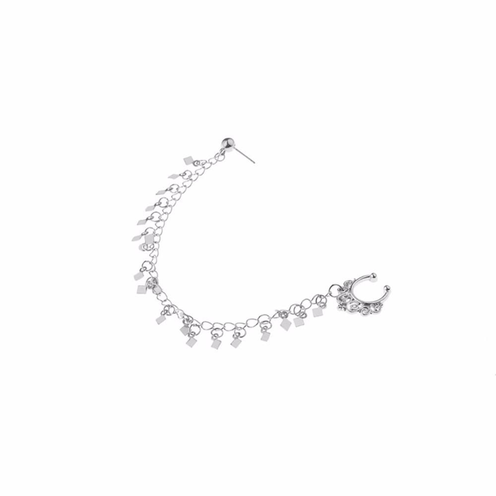 HTB1JjRESFXXXXXbXpXXq6xXFXXXj Nose to Ear Ring - No Pierce Clip on Fashion Jewelry