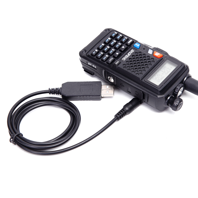 USB charger cable for walkie talkie replace desktop charger for Baofeng UV-5R USB Charging Cable UV5R UV82 CB radio Charging