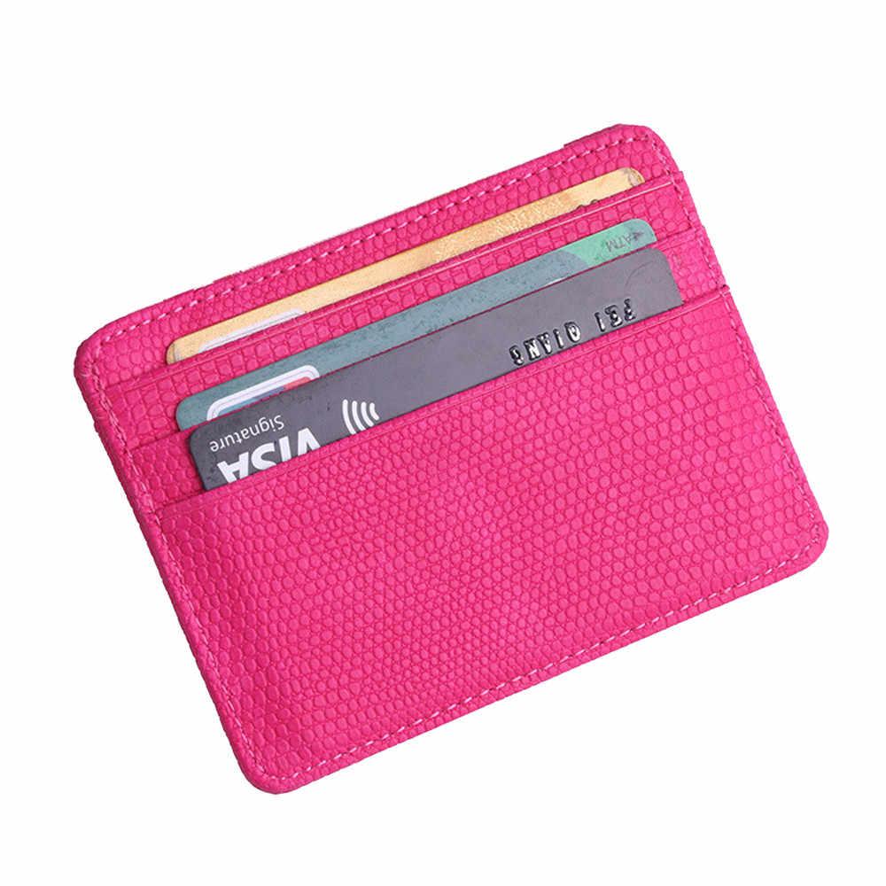 Terbaru Fashion Lichee Pola Bank Paket Kartu Tas Koin Kartu Pemegang Perjalanan Kulit Pria Dompet Wanita Kartu Kredit Pemegang Cover