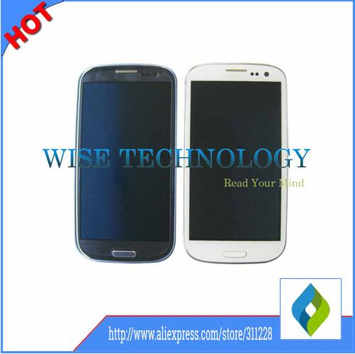 ФОТО For Samsung Galaxy S3 I535/ SCH-I535 T999/ SGH-T999 LCD Display Touch Screen Digitizer With Frame Assembly WHITE BLUE BLACK