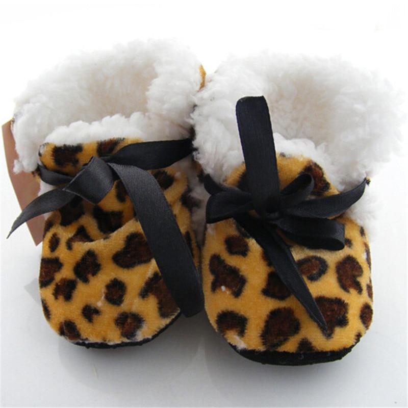 Leopard-Zebra-Toddler-Kids-Fleece-Fur-Boots-Baby-Shoes-Winter-Laced-Ankle-Socks-5
