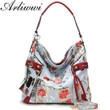 Messenger Handbags Rose Hobos Arliwwi Cross-Body Floral Large-Capacity Female Women's