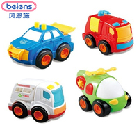 Beiens 6 Types Mini Plastic Construction Vehicle Engineering Car Toy Dump Car Dump Truck Model Classic