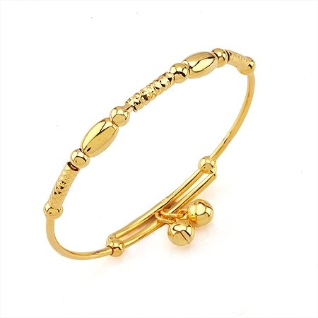 Fashion Jewelry Bangle 18k Yellow Gold Filled Baby Bracelet