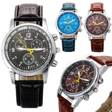 Luxury Stylish Faux Crocodile Leather Men Quartz Analog Watch WatchesCan be wholesaleFree shipping