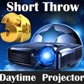 1080 P Short Throw Light Проекторы 7500 Люмен DLP Видео Full HD 3D Переход Портативный HDMI Проекторы Android DLP Домашний театр