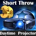 1080 p Luz Proyectores de Tiro Corto 7500 Lúmenes DLP proyector de Vídeo Full HD 3D Luz Portátil HDMI Proyectores DLP Android Casa teatro
